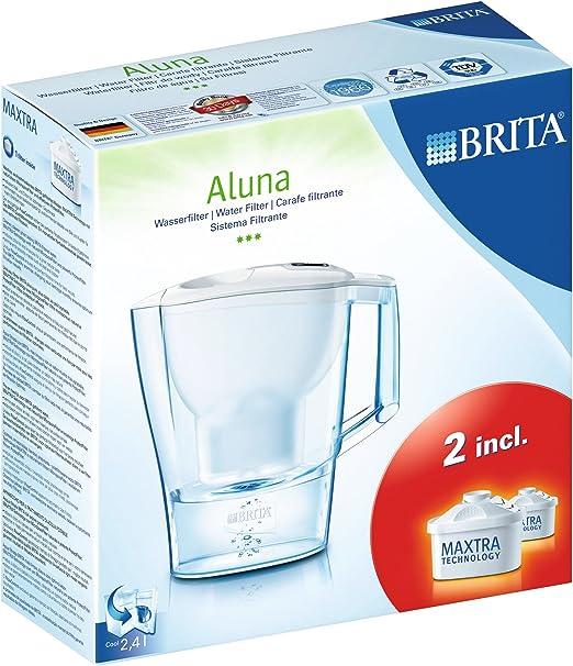 BRITA Jarra purificadora Aluna Incluye 2 filtros para Agua Maxtra ...