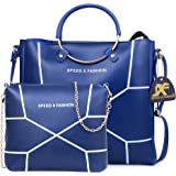 Speed X Fashion Women's Handbags And Shoulder Bag Combo (Blue)