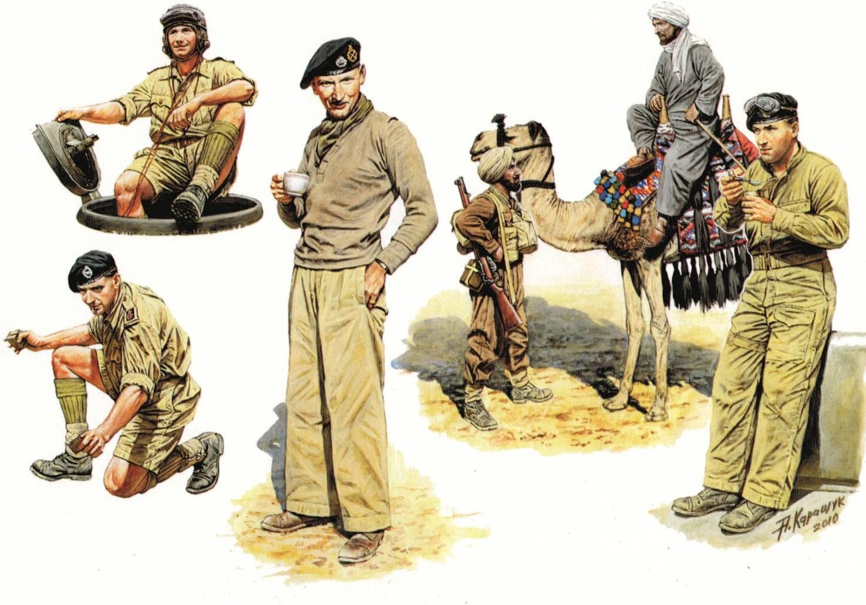 Masterbox 135 1:35 British Infantry In Action Northern Africa Ww Ii Figurines