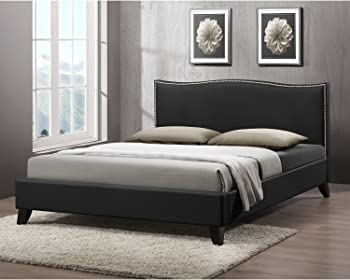 Upholstered Headboard Modern Bed