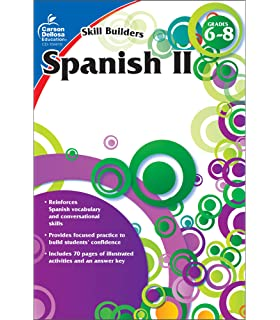 Amazon com: Spanish, Grades 6 - 12: Middle / High School (The 100+