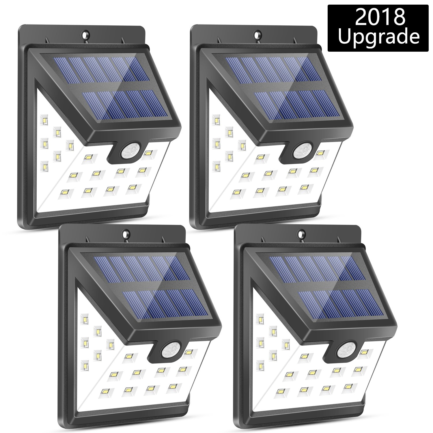 Urlitoy 22 LED Solar Lights Outdoor Wide Angle Illumination Motion Sensor Waterproof Wall Light Wireless Security Night Light for Outdoor Wall,Back Yard,Fence,Garage,Garden,Driveway(364LM,4 Packs)