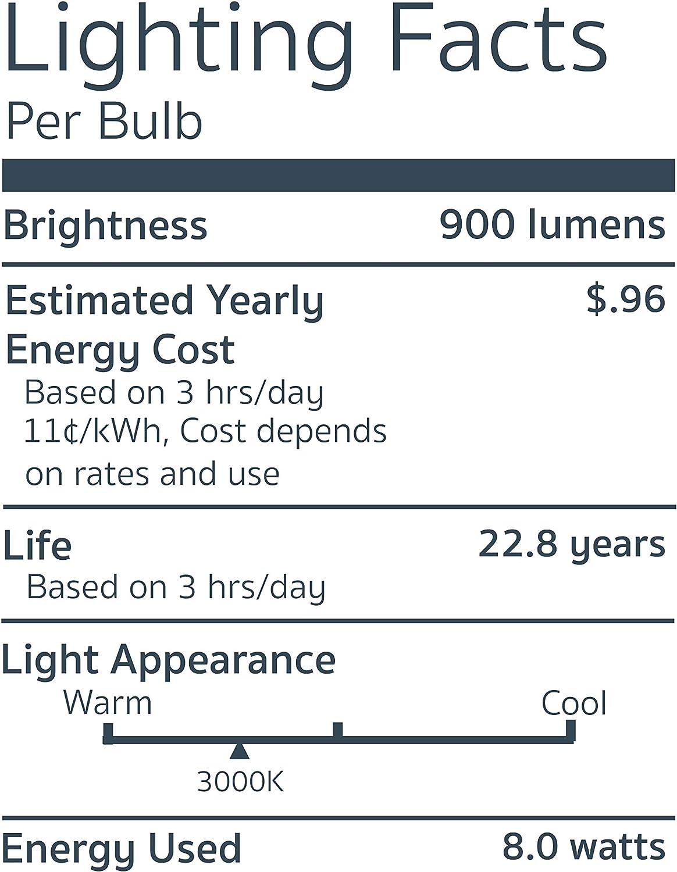 Emery Allen EA-E17-4.5W-001-309F-D Dimmable E17 Base LED Light Bulb 50W Equivalent 1 Pcs 3000K 450 Lumens 120V-4.5Watt