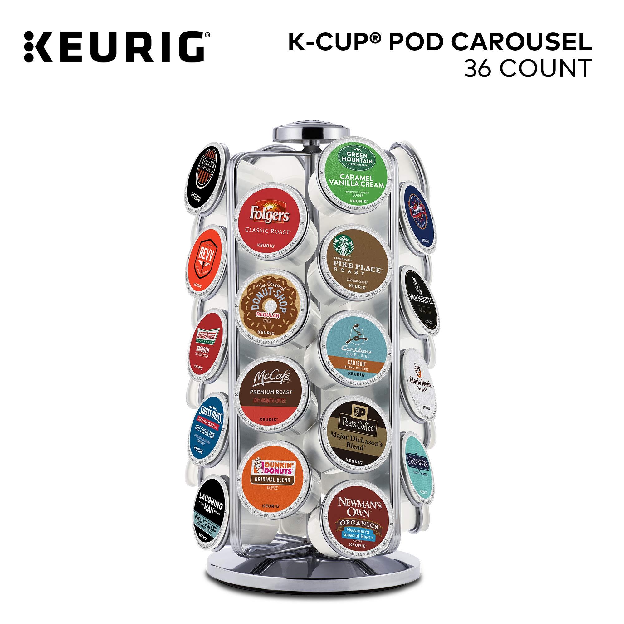 Keurig Storage Carousel, Coffee Pod Storage, Holds up to 36 Keurig K-Cup Pods, Silver by Keurig