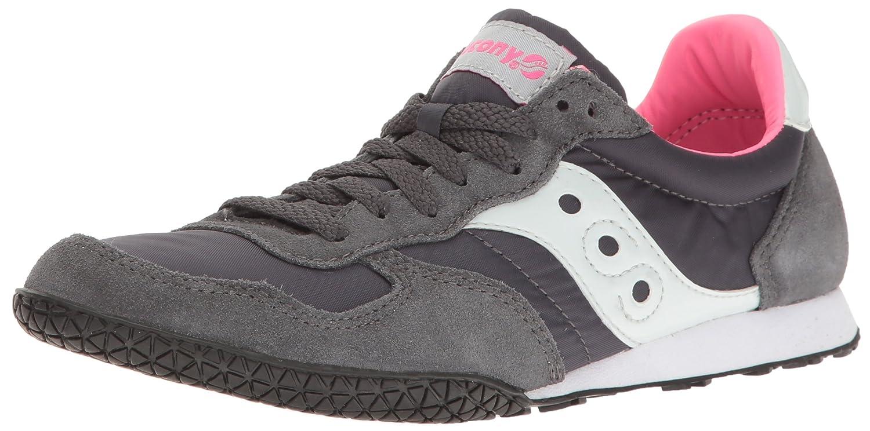 Saucony Originals Women's Bullet Sneaker B01GJHZ944 7.5 B(M) US|Charcoal/Pink