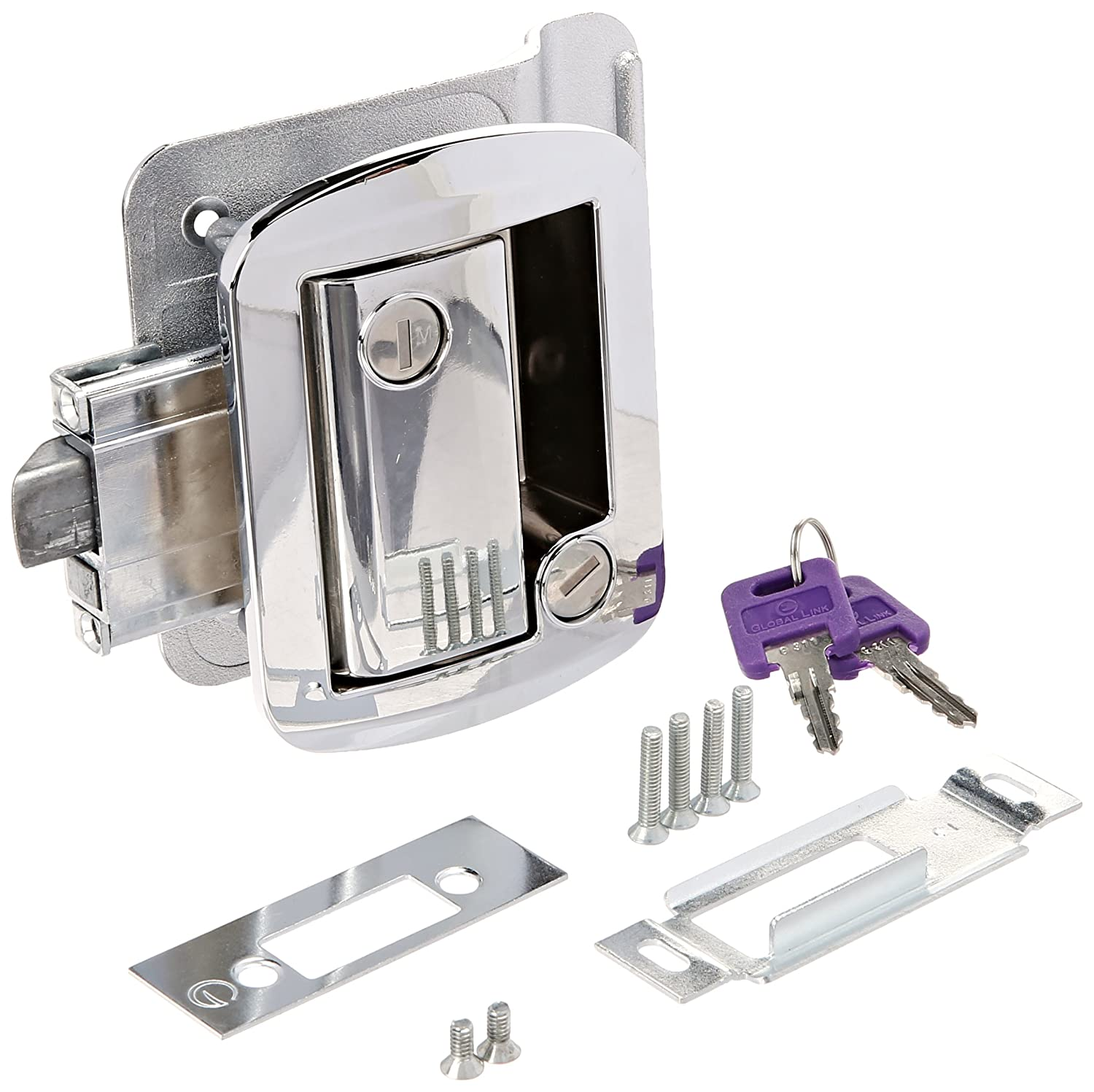 AP Products 013-571 White Global Travel Trailer Entrance Lock Set