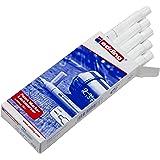 Edding e-751 Lot de 10 Marqueurs peinture pour Matériau foncé 1 à 2 mm Blanc