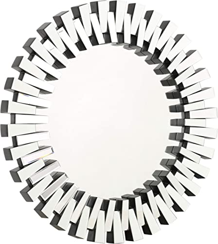 Christopher Knight Home Elaina Circular Wall Mirror, Clear Mirror