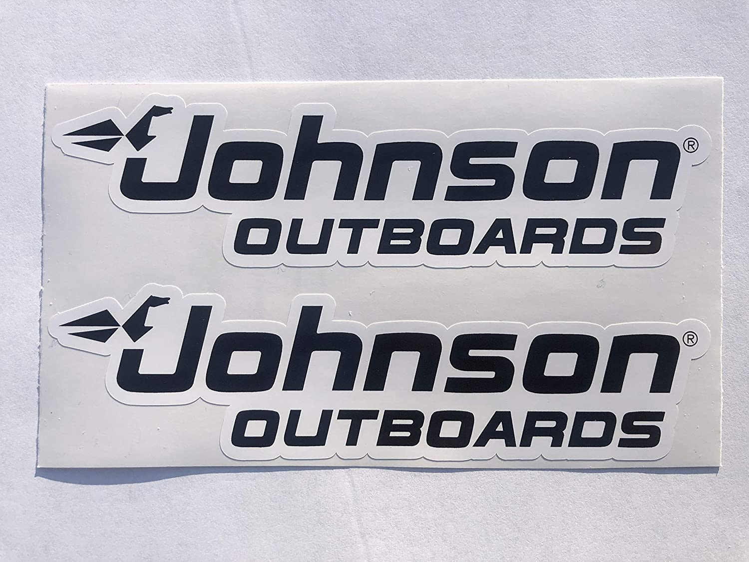 2 Johnson Outboards Name Decals by SBDdecals.com (2 Inch)