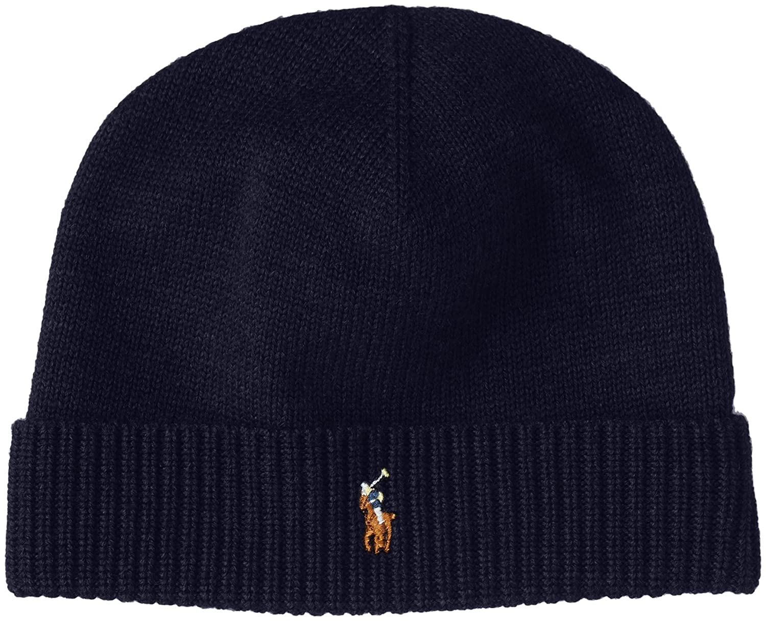 Amazon.com  Polo Ralph Lauren Men s Beanie Watch Cap Merino Wool Navy Blue   Clothing da76f314f24