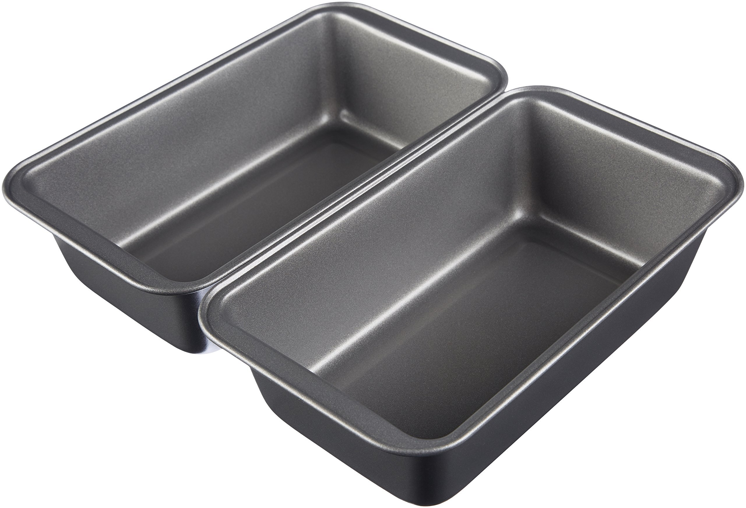 AmazonBasics Nonstick Carbon Steel Bread Pan - 9.5'' x 5'', 2-Pack by AmazonBasics (Image #1)