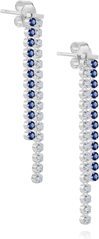 LillyMarie Femme Boucles Doreilles Argent Sterling Bleu Clair Swarovski Elements Originaux Rond Emballage Cadeau Petite Amie