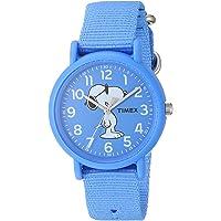 Timex TW2T658009J Joe Cool - Reloj analógico de cuarzo (correa de nailon, 34 mm), color azul