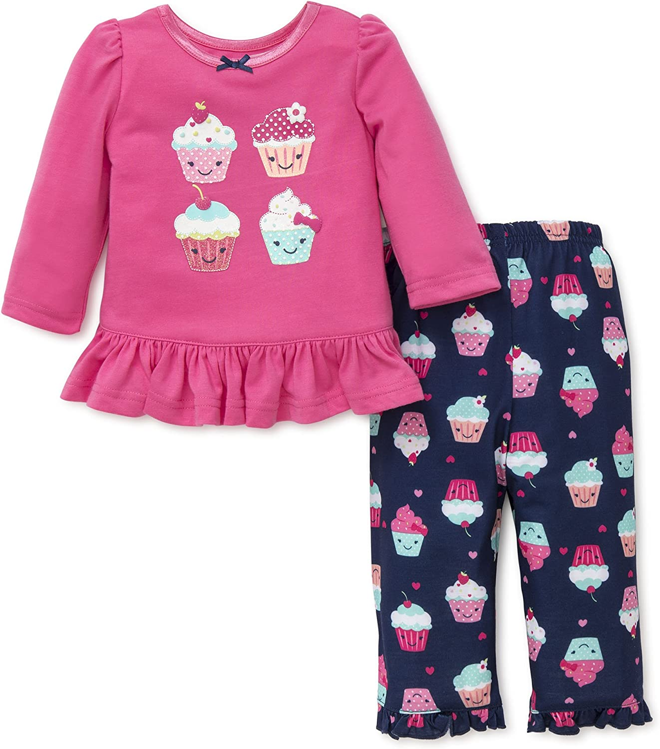 Little Me Baby Girls 2 Piece Poly Sleepwear