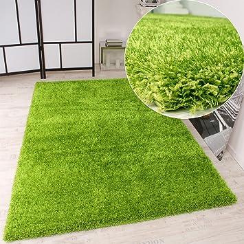 Grüner teppich br  PHC Shaggy Teppich Hochflor Langflor leicht Meliert Qualitativ u ...