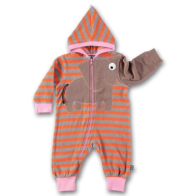 Ubang - Pelele para dormir - Rayas - para bebé niña naranja 74