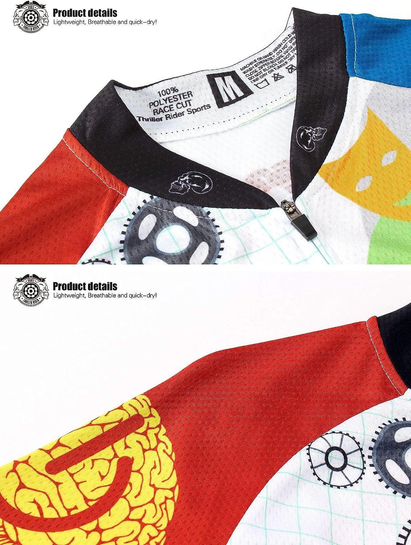 Thriller Rider Sports/® Damen Rest Your Mind Sport /& Freizeit MTB Fahrradbekleidung Radtrikot
