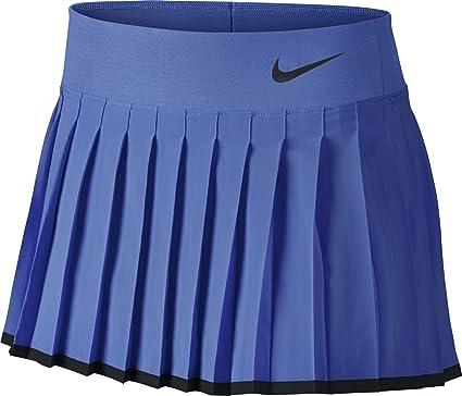 Nike Victory YTH Falda de Tenis, Niñas, Azul (Comet Blue Black),