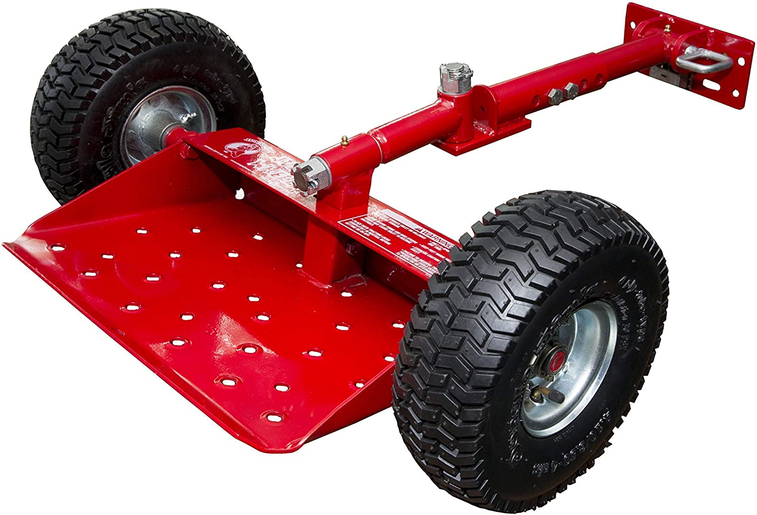 Red Jungle Wheels Two Wheel Sulky for Walkbehind Mowers