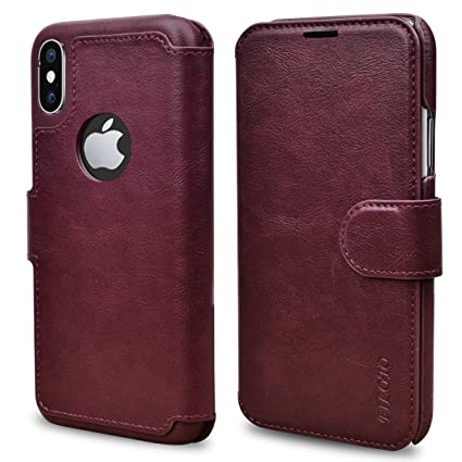 801559b98193 iPhone X Wallet Case, Filoto iPhone X Case, Premium PU Leather Wallet Case  with
