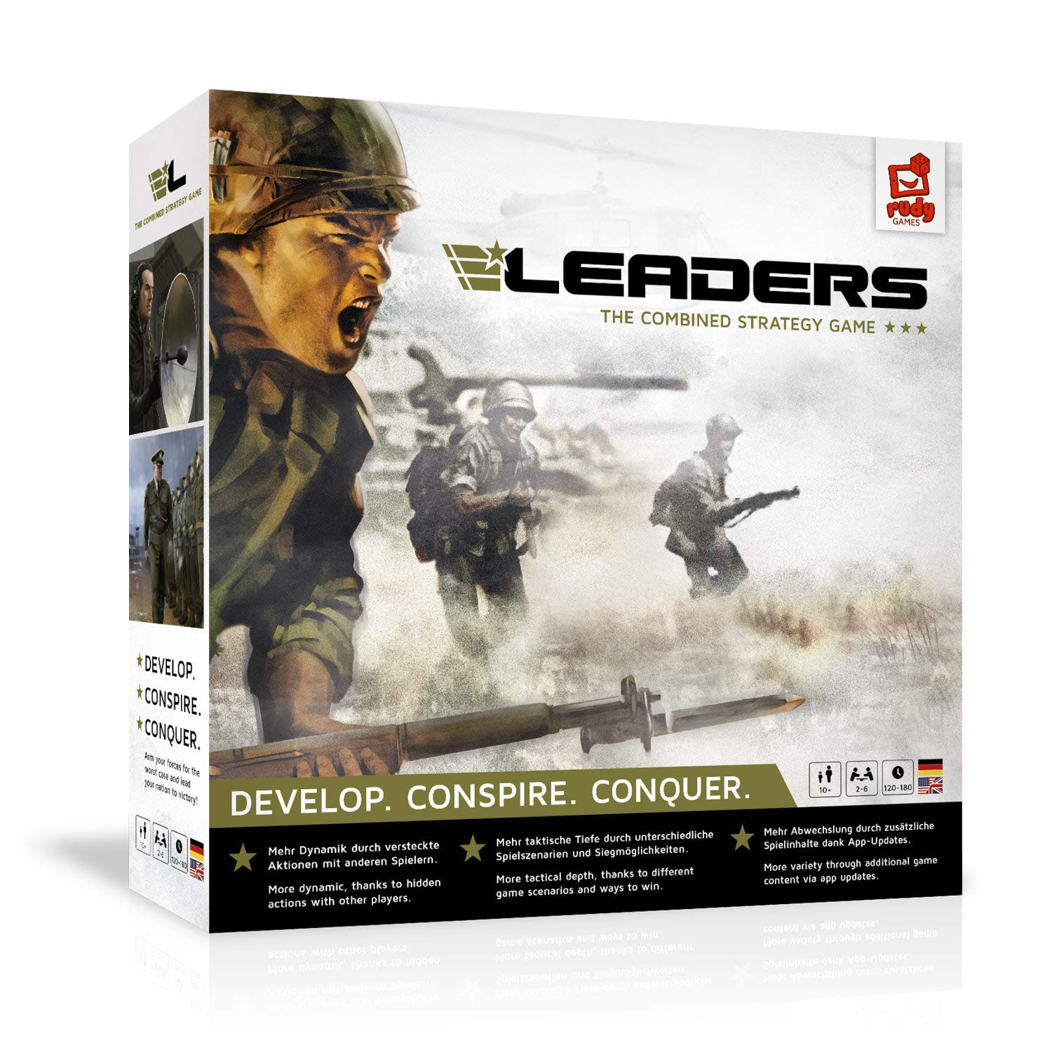 Rudy Games - Leaders 2019 - Interactive Cold War Strategy Board Game with App - for Children 10 Years and Up and Adults by Rudy Games (Image #6)
