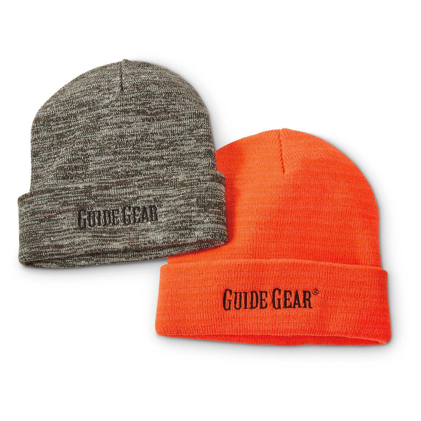 6b7575d6cc4 Amazon.com   Guide Gear Knit Beanies 2 Pack   Sports   Outdoors