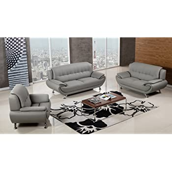 Amazon Com Gtu Furniture Contemporary Bonded Leather Sofa