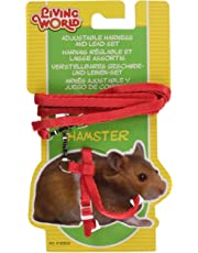Living World Harnais et Laisse Hamster Rouge