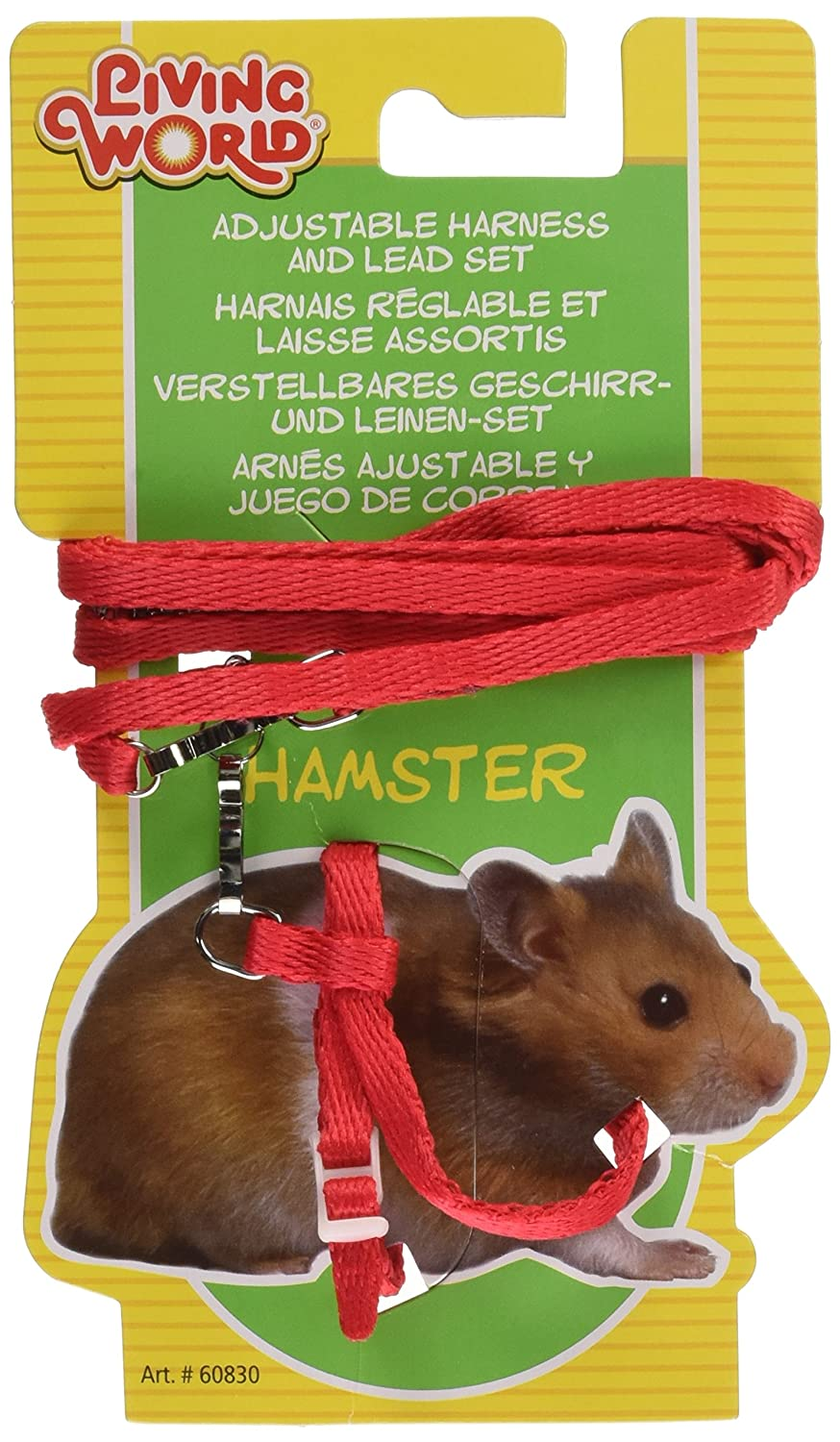 Living World Harnais et Laisse Hamster Rouge 60830