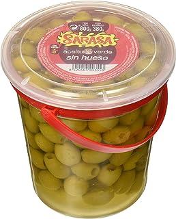 Aceituna verde manzanilla sin hueso, Paquete de 6 x 800gr - Total: 4800 gr