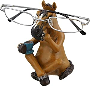 Whimsical Sitting Horse Eyeglasses Holder Stand - Fun Glasses Keeper