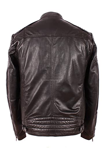 Mens SAVAGE (1829) Black Biker Style Fashion Real Soft Lambskin Leather  Jacket: Amazon.co.uk: Clothing