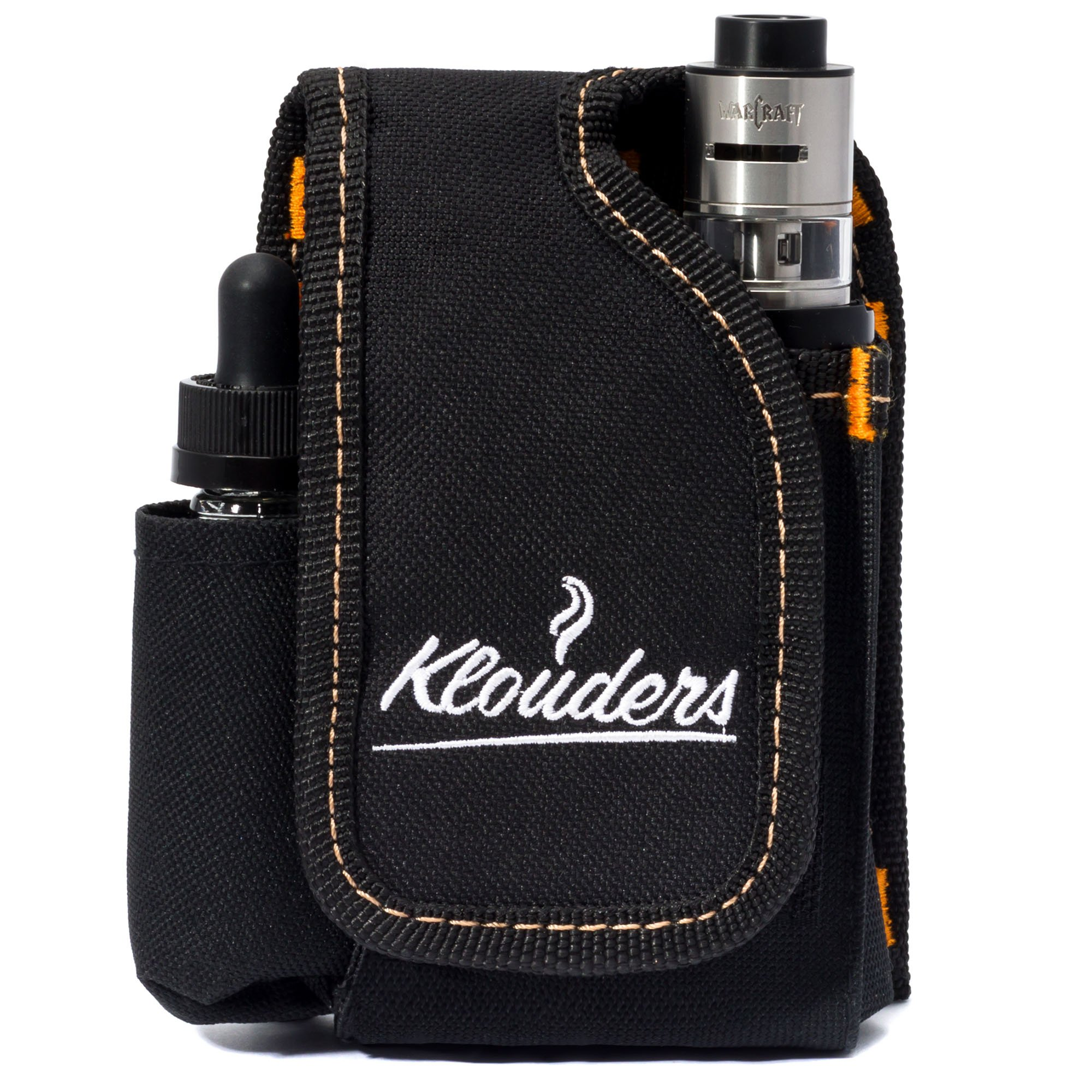 Vape Accessories, Vape Case, Vapor Pouch, Vapor Carrying Bag for Travel Vaping Supplies Organizing Your Box Mod, eJuice, Battery, Tank Holder, Holster Vaporizer, Black, Klouders [CASE ONLY]