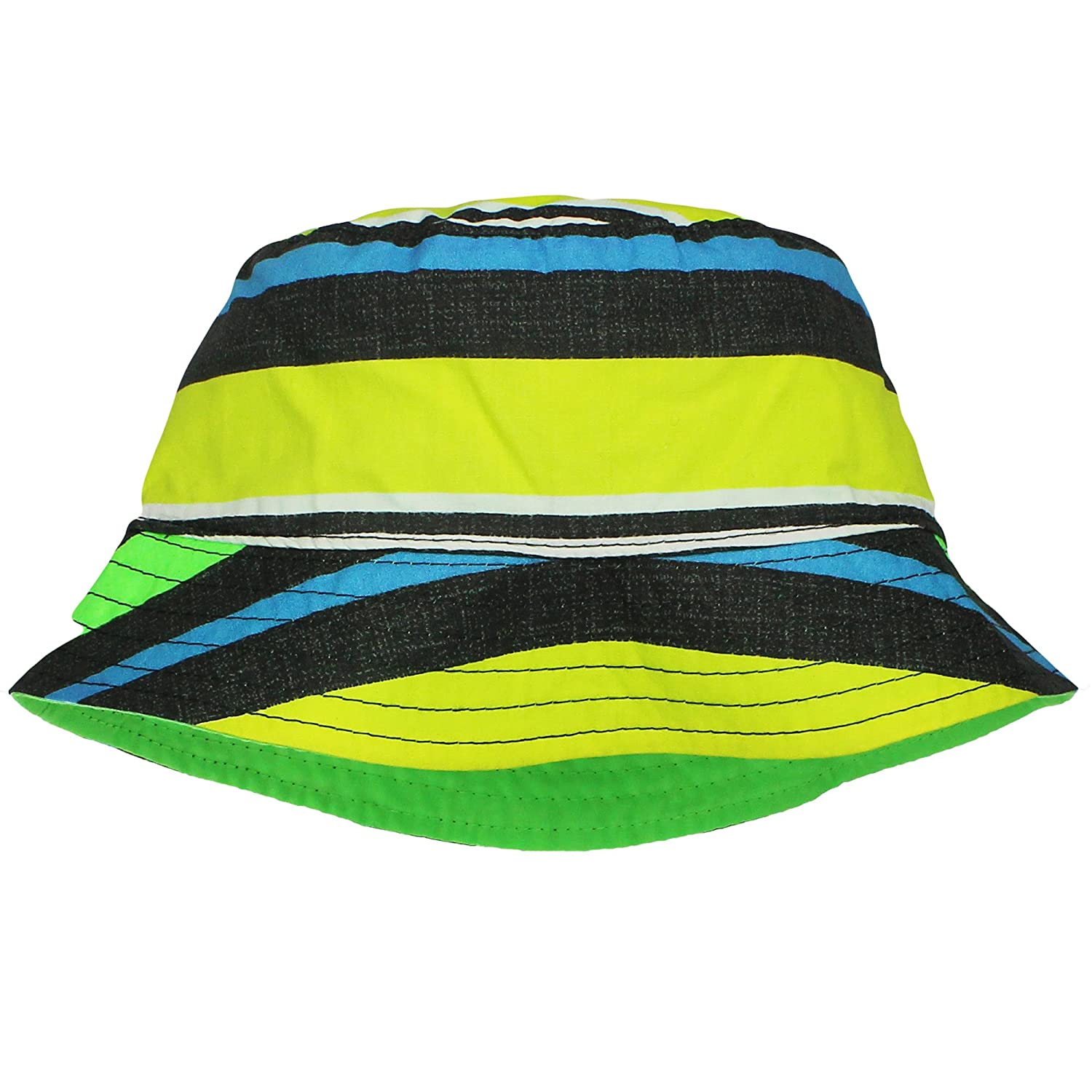 a692a2b72b4 Amazon.com  OshKosh Sun Hats for Boys Reversible Stripe Solid Bucket Hat  4-7  Clothing