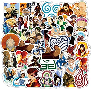 50pcs Avatar:The Last Airbender Vinyls Stickers Laptop Sticker Waterproof Stickers Luggage Skateboard Water Bottle Stickers Decal Bicycle Bumper Snowboard Decorate Gift for Kid. /Avatar