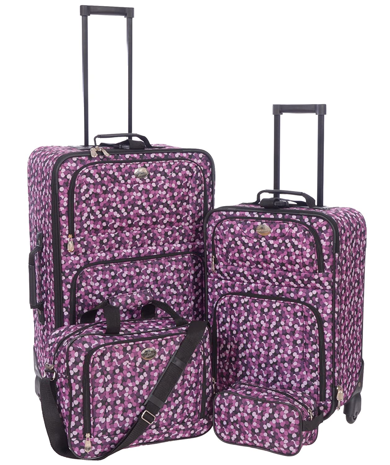 Jetstream Lightweight 4 Piece Fashion Luggage Set Including Travel Kit C0328_S4_MLT