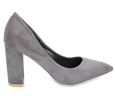 Fashion Shoes - Scarpe Donna Alto Tacco 10 Cm - Escarpin Tacco Blocco in  Velluto - Escarpin Donna Grosso Tacco Comfort - Chic  Amazon.it  Scarpe e  borse 23c505b9636