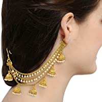 The Luxor Gold Plated Long Chain Jhumki Hair Chain Accessories for Earrings for Women(ACC6154)