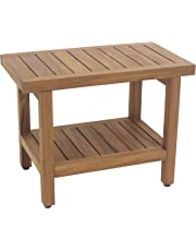 """24"""" Teak Shower Bench - From the Spa Collection"""