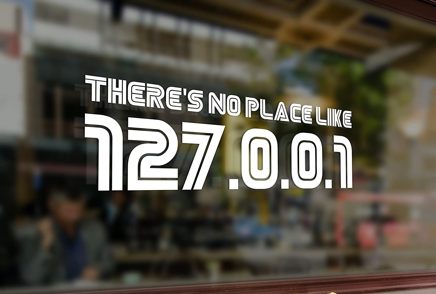 25 Centimeters There's No Place Like 127.0.0.1 Vinyl Stickers Funny Decals Bumper Car Auto Computer Laptop Wall Window Glass Skateboard Snowboard