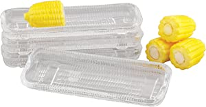 HIC Harold Import Co. 43206, Glass, HIC Corn Dishes, Set of 4, 8.5-Inches