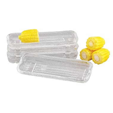 HIC Corn Dishes, Glass, Set of 4, 8.5-Inches