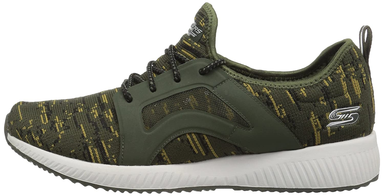 Skechers BOBS from Women's Bobs Squad-Double Dare Fashion Sneaker B01MTB9PS8 6 B(M) US|Olive