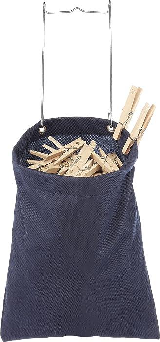 Whitmor Hanging Clothespin Bag Navy