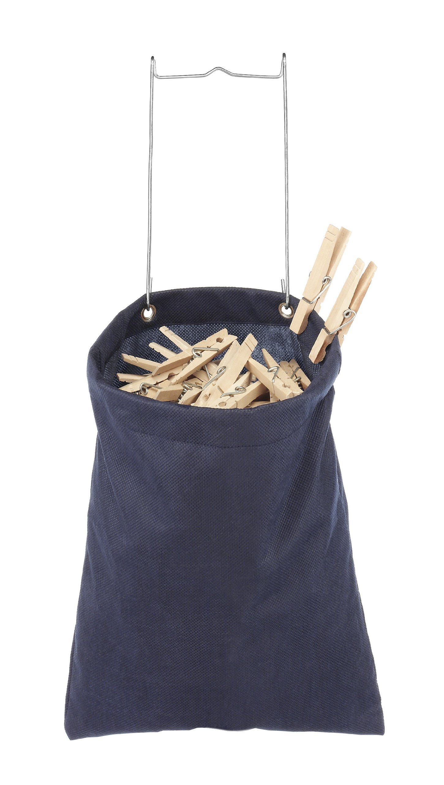 Whitmor Hanging Clothespin Bag Navy