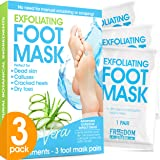Foot Peel Mask (3 Pack), Foot Mask with Aloe Vera, Exfoliating Baby Foot Peel - Dead Skin Remover for Feet, Foot…