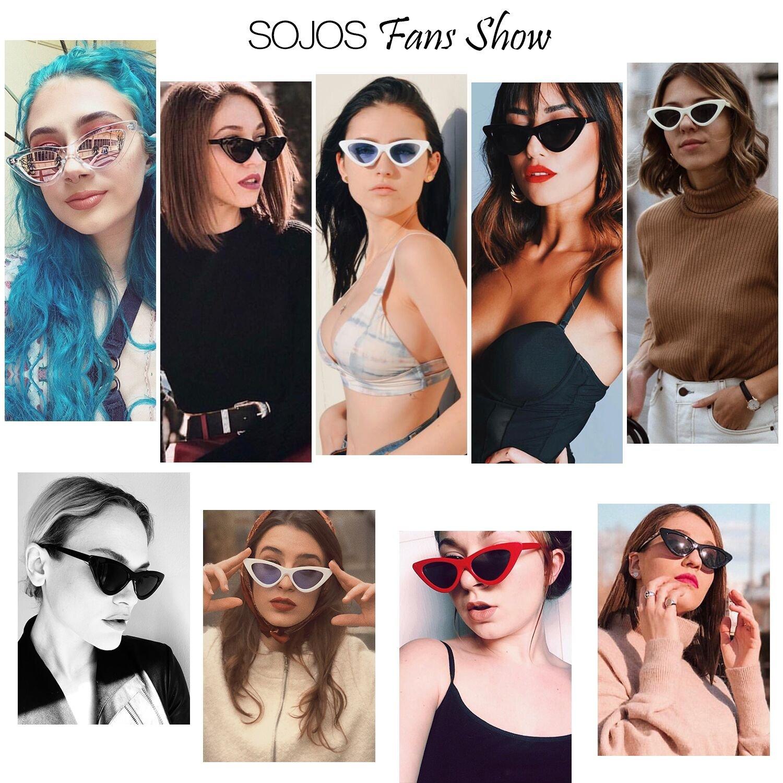 39e301c049 SOJOS Clout Goggles Cat Eye Sunglasses Vintage Mod Style Retro Kurt Cobain  Sunglasses SJ2044 with Red Frame Grey Lens + Black Frame Grey Lens 2 Pairs  of ...