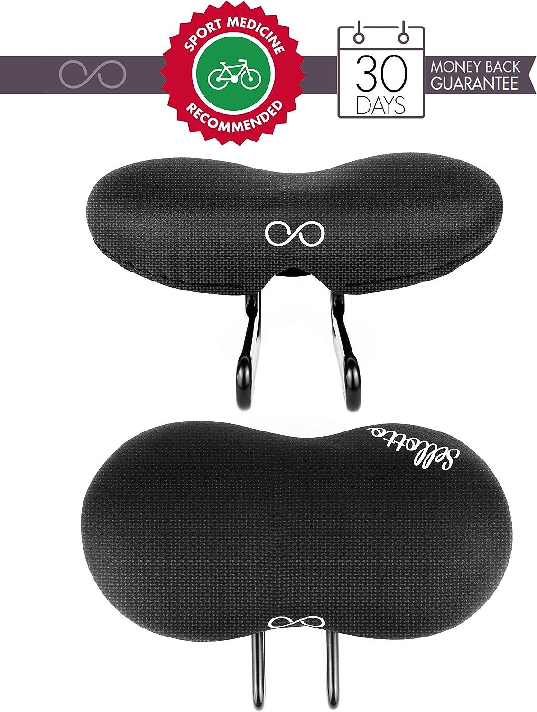 sellOttO Condor - Innovador sillín Acolchado Gel, Recomendado por Medicina Deportiva - Ideal para Bicicleta Ciutad, E-Bike, Mountainbike, Carrera