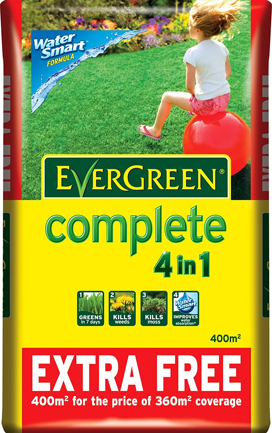 Scotts Miracle Gro Evergreen Complete 360 Sq M 10 Extra Free Lawn