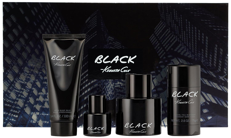Black by Kenneth Cole for Men 4 Piece Set Includes: 3.4 oz Eau de Toilette Spray + 0.5 oz Eau de Toilette Spray + 3.4 oz After Shave Balm + 2.6 oz Deodorant Stick Parlux 608940559178